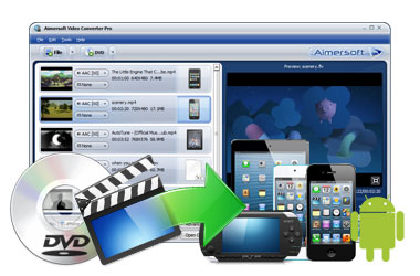 Convert to Tons of Formats to Fit Popular Devices